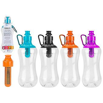 MyBento 550ml Water Bottle with Filter & Carabiner