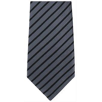 Michelsons Lontoo raidallinen tavallista pidemmät polyesteriä sitoa - harmaa/musta