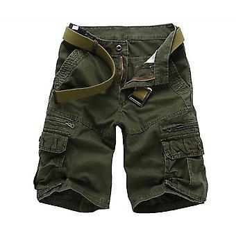 Allthemen Men's Short Pants Mid Waist Cotton Casual Loose Shorts