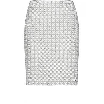 Taifun Grey & White Patterned Skirt