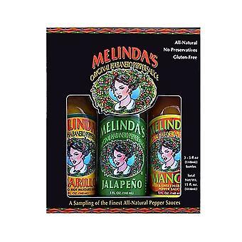 Pacchetto di varietà di salsa calda Melinda's Wild & Mild
