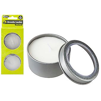 Summit Twin Pack Citronella Candle Tins