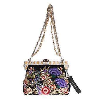 Dolce & Gabbana Multicolor Vanda Floral bestickte Tasche VAS1248