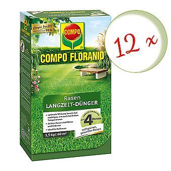 Sparset: 12 x COMPO Floranid® Langsiktig gressgjødsel, 1,5 kg