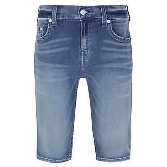 Wahre Religion Bassline Rocco Blau waschen Denim Shorts