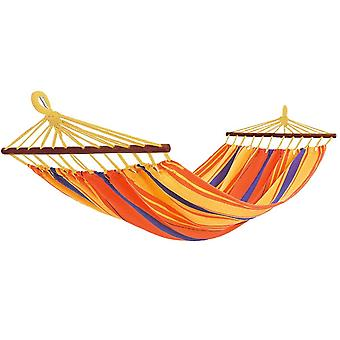 Hammock with Wooden rods, 100 x 200 cm - Orange
