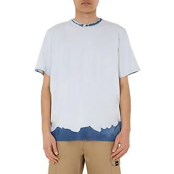 Msgm 2840mm16720708802 Männer's weiße Baumwolle T-shirt