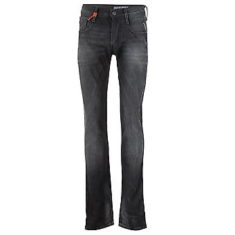 Replay Slim Leg Jeans ANBASS 11 OZ ENDUIT NOIR DE Pantalon Skinny ANBASS 11 OZ MANTEAU