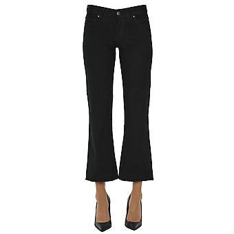 Atelier Cigala's Ezgl457014 Women's Black Cotton Jeans