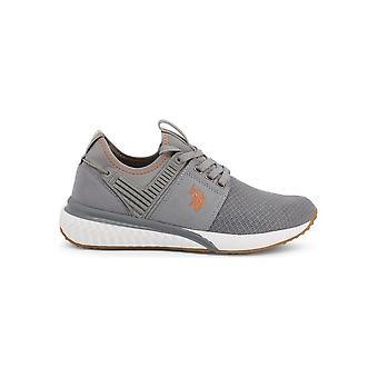 U.S. Polo Assn. - Shoes - Sneakers - FELIX4048S8_MY3_GREY - Men - gray,orange - EU 42