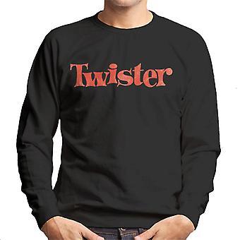 Twister haalistunut Punainen Logo Miehet & s Collegepaita