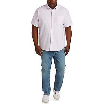 أساسيات الرجال & apos;ق كبيرة وطويلة القامة قصيرة الأكمام جيب أكسفورد قميص يصلح من قبل DX ...
