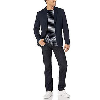 Essentials Menăs Knit Sport Coat, Navy, XX-Large