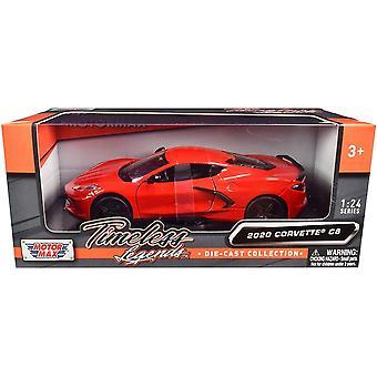 MotorMax Motormax Timeless Legends - 2020 Corvette C8 Red  1:24