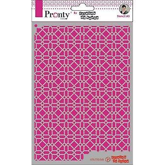 Pronty Crafts Pattern Background 4 A5 Stencil