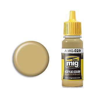 Ammo by Mig Acrylic Paint - A.MIG-0029 Desert Sand (17ml)