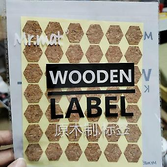 Label Sticker Kitchen Bottle Jar Storage Cup Sticker Handmade Wooden Gift Biscuit Packaging Label Sticker Decoration