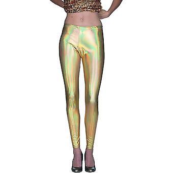 Metallic Leggings Kvinders Kostume Kvinders Kostume Bukser Carnival