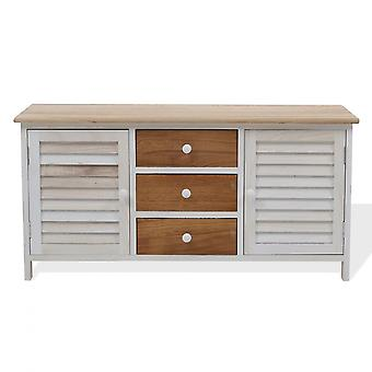 Rebecca Huonekalut Mobile Belief 3 Laatikot 2 Antei White Wood Shabby 44x90x34