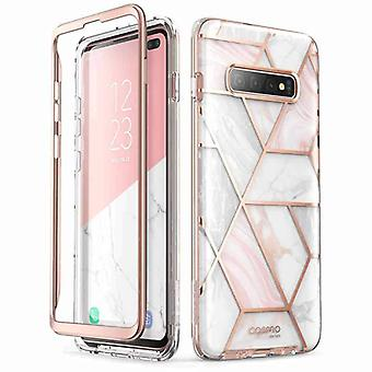 COSMO Backcover Hoesje Samsung Galaxy S10 - Marble Wit