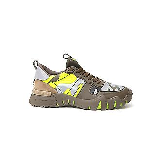 Valentino Garavani Ty0s0c88mhb33z Heren's Groene Lederen Sneakers