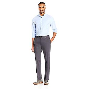 Goodthreads Men's Straight-Fit Wrinkle-Free Dress Chino Pant, Grey, 31W x 32L