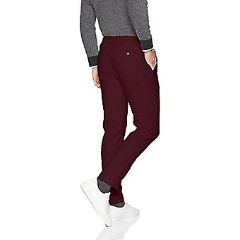 Essentials Men's Slim-Fit Casual Stretch Khaki, Burgundy, 42W x 30L