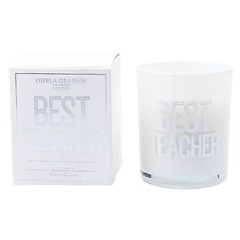Gisela Graham Scented Candle - Best Teacher - Vanilla