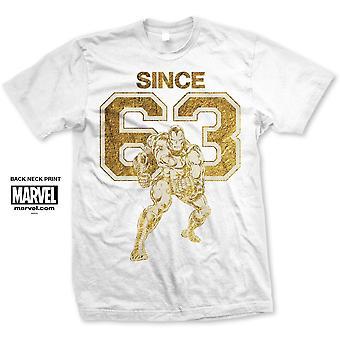 Marvel Comics Iron Man Sinds 63. Officiële Tee T-shirt Unisex
