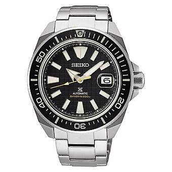 Seiko Watches Srpe35k1 Prospex Black & Silver Stainless Steel Automatic Diver's Men's Watch