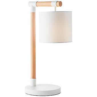 Lampada BRILLIANT Eloi Lampada da tavolo Naturale/Bianca | 1x A60, E27, 60W, adatto per lampade normali (non incluse) | Scala A++