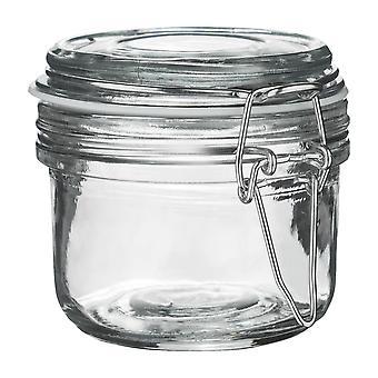 Argon Geschirr Glas Aufbewahrungsglas mit luftdichten Clip Lid - 125ml - weißes Siegel
