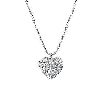 Hot Diamonds Sterling Silver Minnen Vit Topaz Hjärta Medaljong Hänge DP770