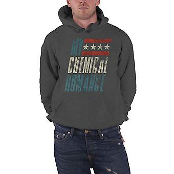 My Chemical Romance Hoodie Raceway logo new Official Mens Charcoal Grey Pullover