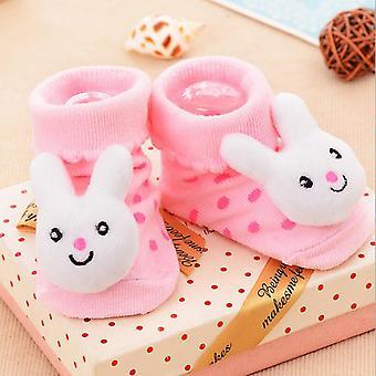 Puuvilla Vauvan sukat Kumi Anti Slip Lattia Lapset Taaperot Syksy Kevät Eläin