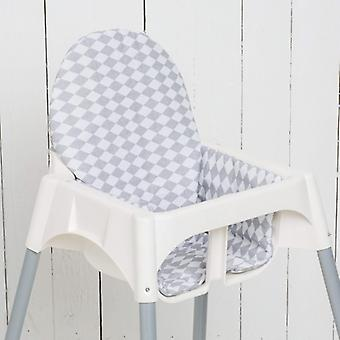 Puckdaddy Seat Cushion Kurt pre IKEA High Chair Antilop Diamonds Grey