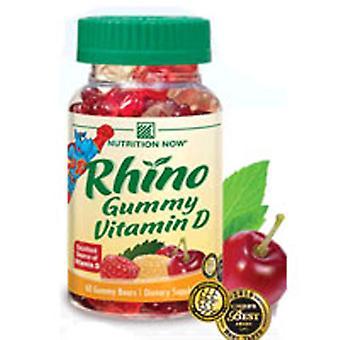 Nutrition Now Rhino Vitamin D Bears, 60 ct
