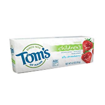 Tom's of Maine Silly Strawberry Fluoride معجون أسنان طبيعي للأطفال، 5.1 أوقية