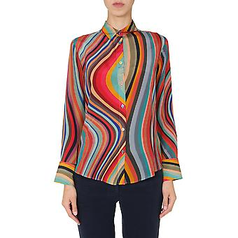 Ps By Paul Smith W2r019be3042590 Women's Multicolor Silk Shirt