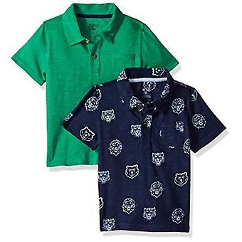 Brand - Spotted Zebra Boys Slub Jersey Short-Sleeve Polo Shirts