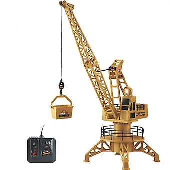 Strong Remote Control Truck- Plastic Collection Engineering Crane Toy For Tower