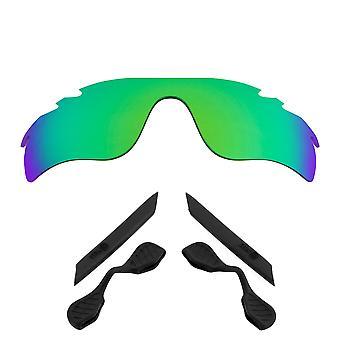 Replacement Lenses Kit for Oakley Vented Radarlock Path Green Mirror Black Anti-Scratch Anti-Glare UV400 by SeekOptics