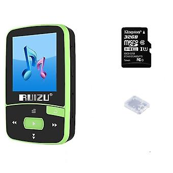 Ruizu Mp3 Player Bluetooth 4.0hifi Mini Clip Mp3 Music Player avec écran