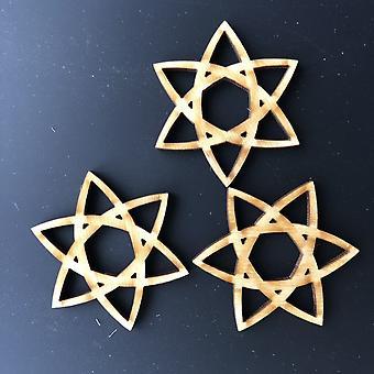 Perles en bois d'étoile celtique