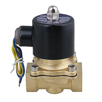 DC 12V 3/4Inch Electric Solenoid Valve Gas Water Air Normally Closed Black