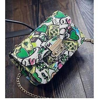 Dámske tašky letné Graffiti Dámske designer kabelky vysoko kvalitný reťazec