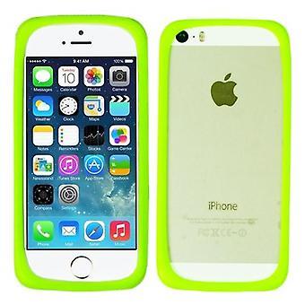 multi funksjon magisk ring silikon støtfanger tilfelle dekke for Apple iPhone 5/ 5S / 6G Samsung S3 / S4 / S5 grønn