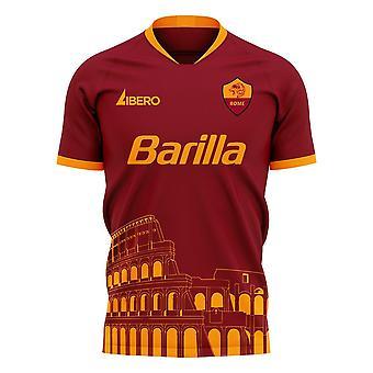 Roma 2020-2021 Home Concept Football Kit (Libero) - Adult Long Sleeve