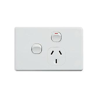 Classic Single Power Point With 16Ax Extra Switch Horizontal Pack