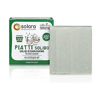 Solara Löslig och superkoncentrerad solid tvål för rätter - Pepparmynta 180 g